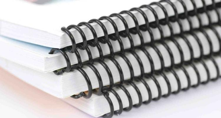Stack of ringbinders Isolated on white.