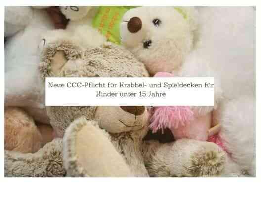 Neue CCC-Pflicht für Krabbel- und Spieldecken für Kinder unter 15 Jahre 7