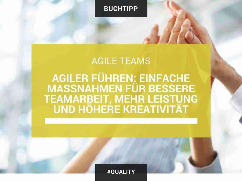 Agiler führen: Einfache Maßnahmen für bessere Teamarbeit, mehr Leistung und höhere Kreativität 79