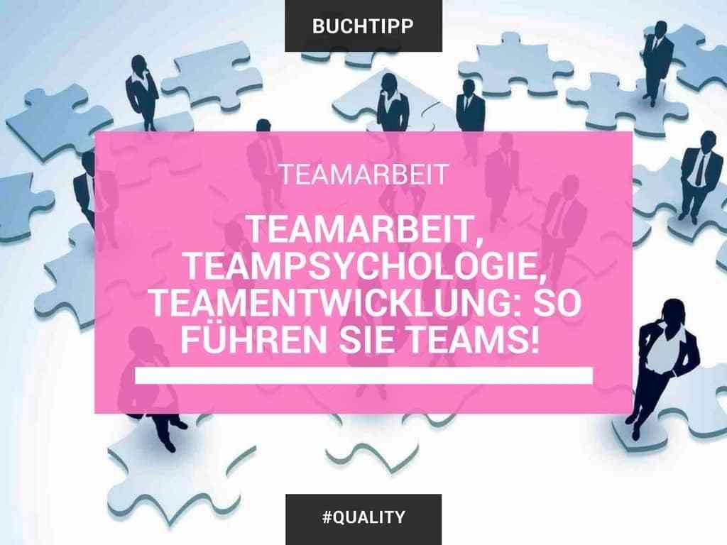 Teamarbeit, Teampsychologie, Teamentwicklung -So führen Sie Teams