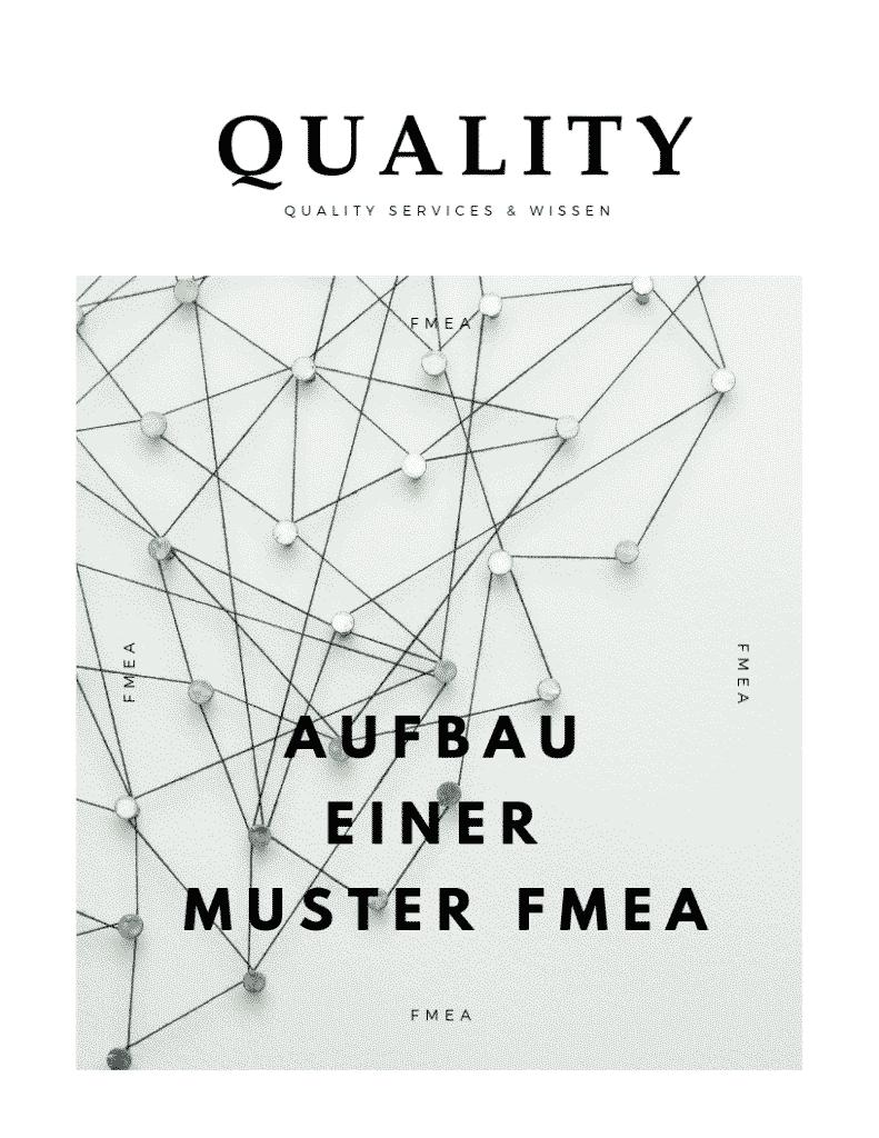 Aufbau einer Muster FMEA 1