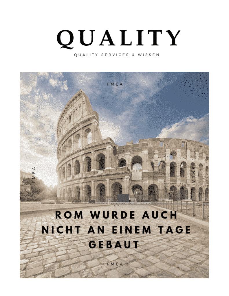 Rom wurde auch nicht an einem Tage gebaut! 5