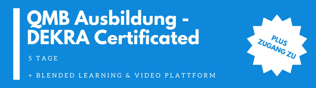 QMB Ausbildung – Qualitätsmanagement Beauftragter Ausbildung – DEKRA Certificated