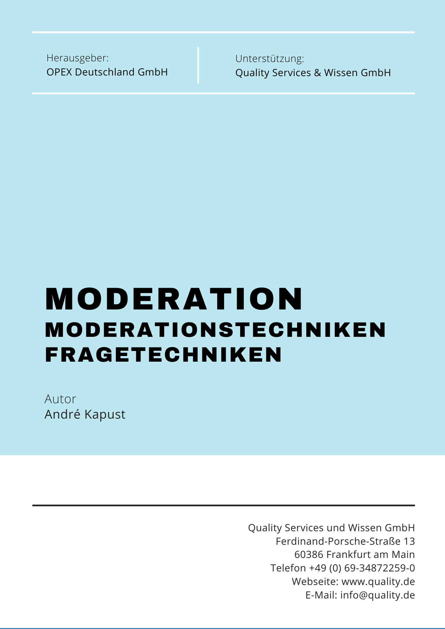 Moderation & Fragetechniken