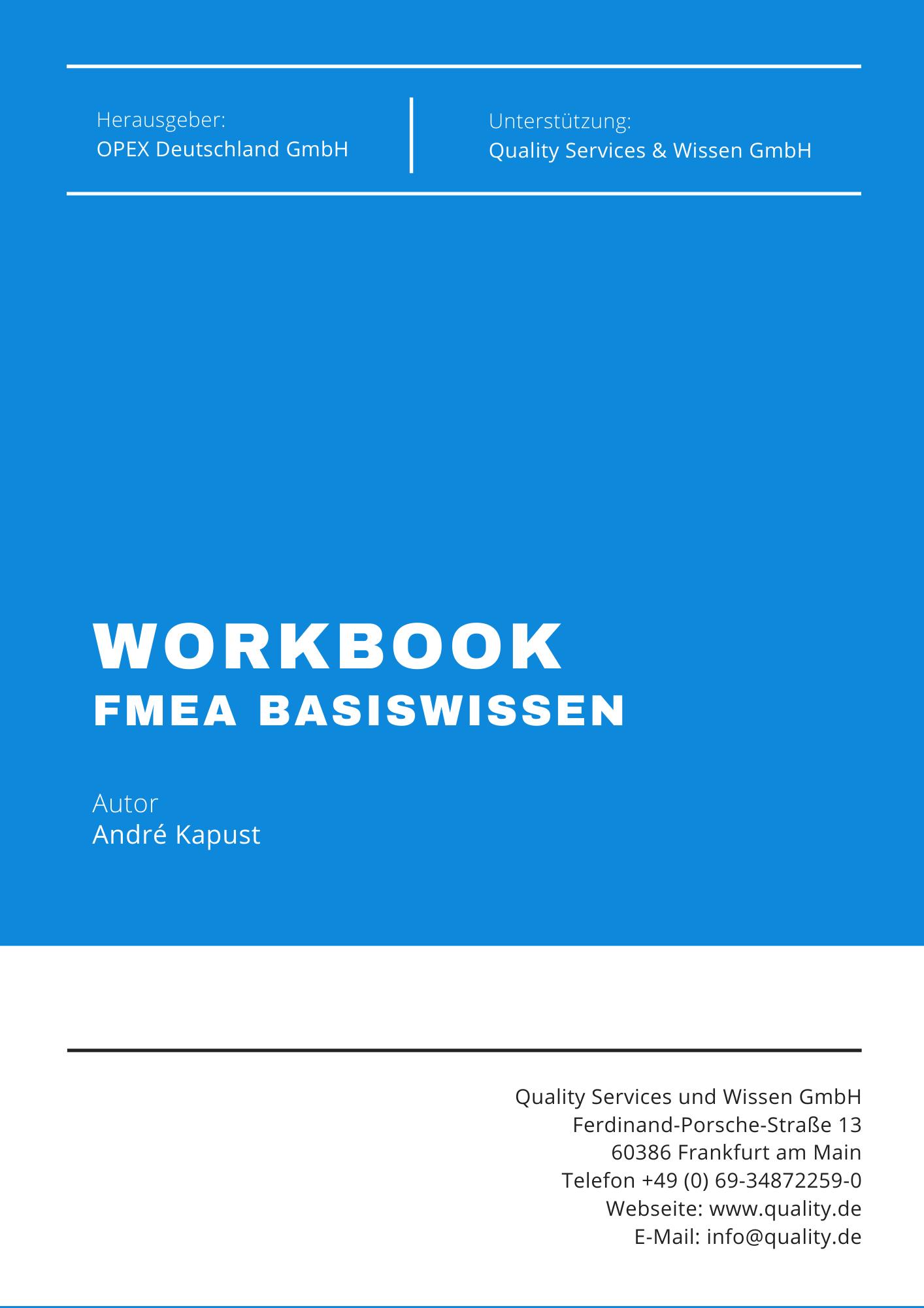 FMEA Workbook FMEA Basiswissen