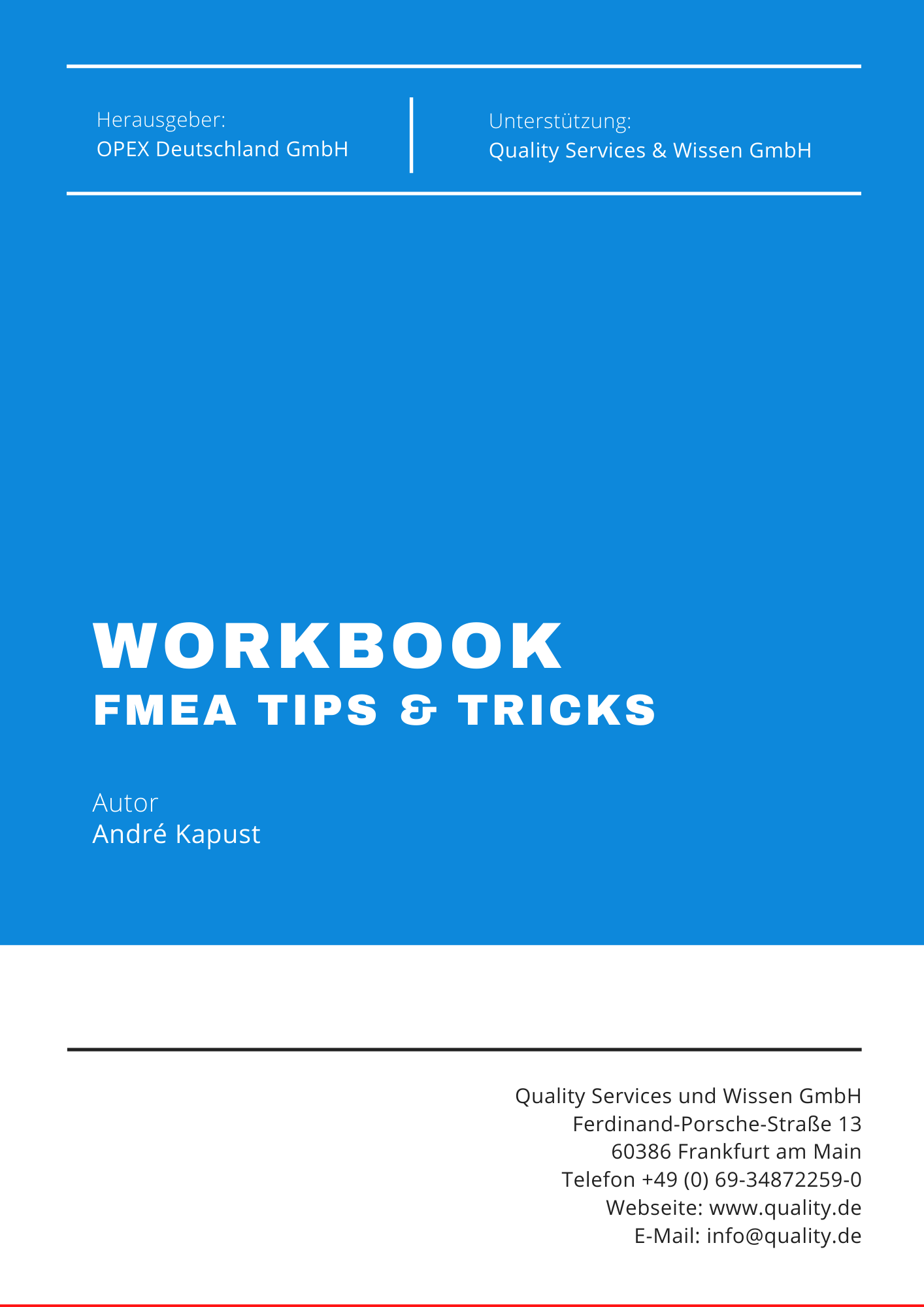 FMEA Workbook Tips & Tricks