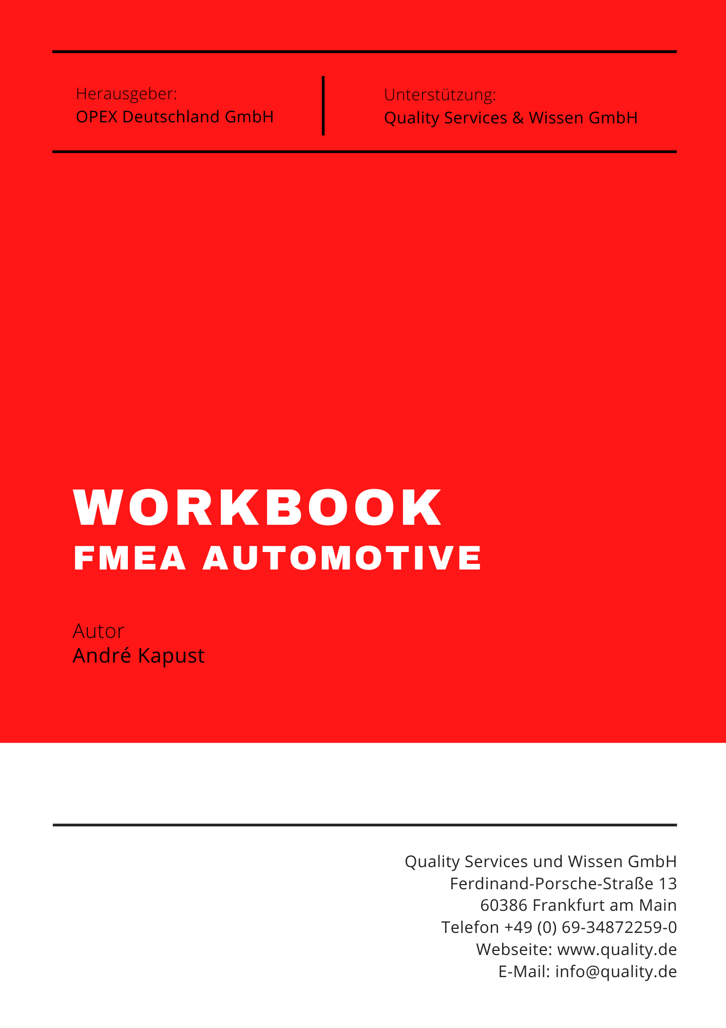 Workbook FMEA Automotive
