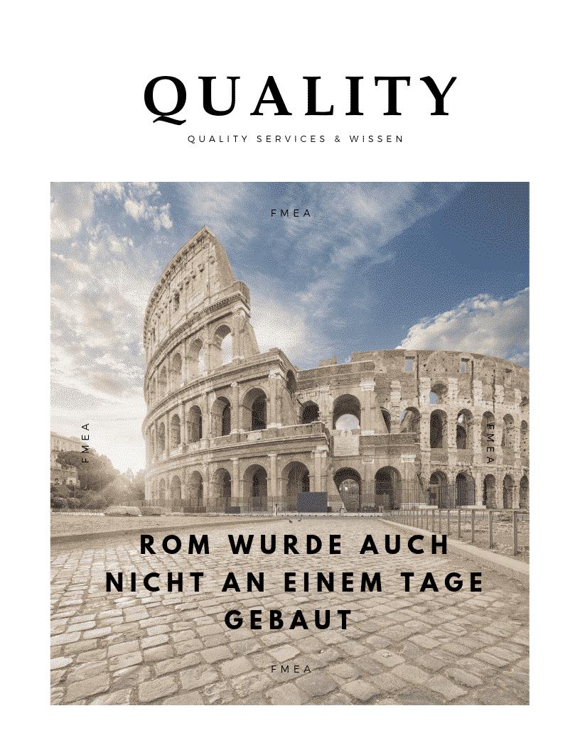 Rom wurde auch nicht an einem Tage gebaut!