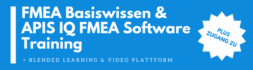 APIS IQ FMEA (Two in One) FMEA Basiswissen + IQ FMEA Software Training