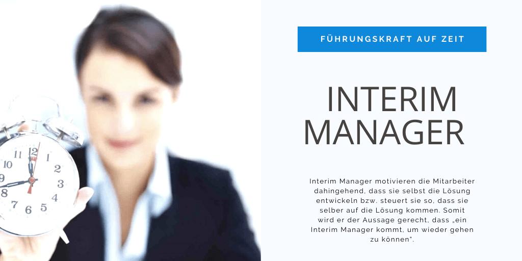 Interim Manager – Führungskraft auf Zeit