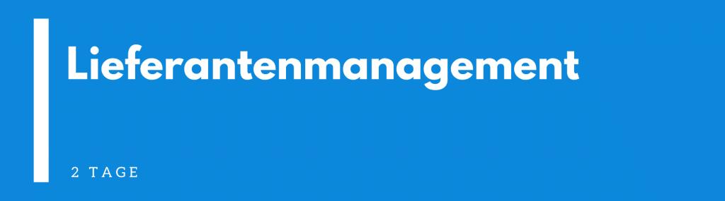 Lieferantenmanagement Seminar