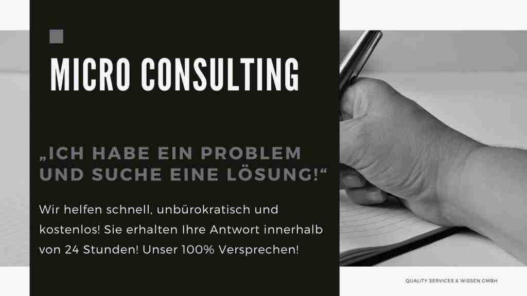 """MicroConsulting – """"Ich habe ein Problem und suche eine Lösung!"""""""