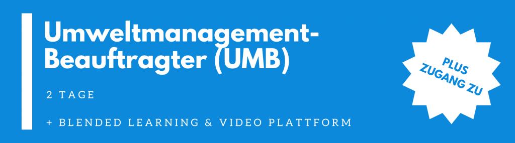 UMB – Umweltmanagement Beauftragter Ausbildung
