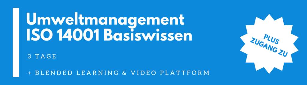ISO 14001 Umweltmanagement – Basiswissen Schulung |  Seminar